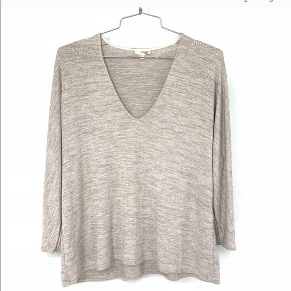 Wilfred free aneta long sleeve vneck shirt